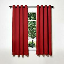 Best Home Fashion Red Antique Bronze Grommet Top Thermal Blackout Curtains 52x63