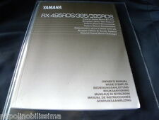 Yamaha RX-495RDS/395/395RDS  Owner's Manual  Operating Instruction   New