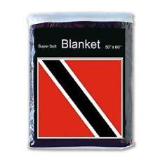 """TRINIDAD & TOBAGO   FLAG FLEECE THROW BLANKET   50"""" x 60""""  - NEW LOWER PRICE"""