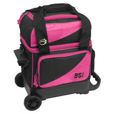 BSI Black/Pink 1 Ball Roller Bowling Bag