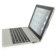 Silver For iPad 2/3/4 Wireless Bluetooth Keyboard W/ Power Bank Slim Case Cover