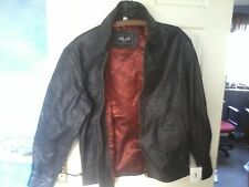 "NEW MILAN  100% LEATHER 100% POLYESTER  LINED JACKET SCOTCHGUARD SIZE ""S"""