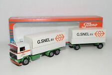 TEKNO VOLVO F12 TRUCK WITH TRAILER G. SNEL BODEGRAVEN N MINT BOXED RARE