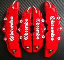 3D Red Brembo Style Universal Disc Brake Caliper Cover 4 Pcs Front & Rear Set fu