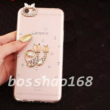 Bling Clear Diamonds Crystal TPU Soft Back Phone Case Cover Skin For Samsung D