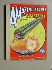 AMAZING STORIES QUARTERLY FALL 1930 Science Fiction PULP