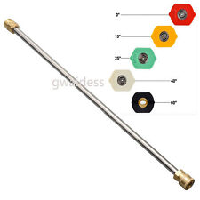 5pcs 025 nozzles/4000PSI,21Inch High Pressure Power Washer Gun Replacement Wand