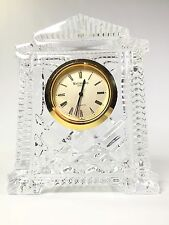 Waterford Crystal From Ireland Acropolis Style Quartz Mantle Clock GORGEOUS!
