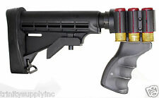 6 Position TACTICAL Stock with shell carrier Remington 870 Shotgun Pistol Grip