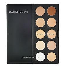 Beauties Factory 10 Color Camouflage Concealer Palette Cream Nature Makeup AZ610