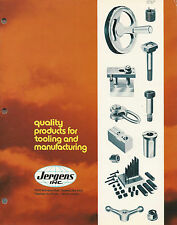 Jig & Fixture Components 1977 Catalog Jergens Inc Cleveland OH Tooling & Mfg