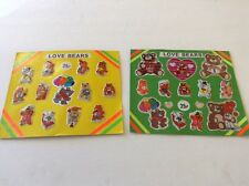 Vintage LOVE BEARS Sticker Care Vending Machine Display Card Premiums Charms Toy