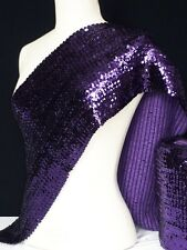 Purple Sequins Stretchy Material with Elastane Q566 PPL