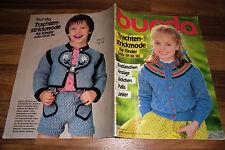 BURDA TRACHTEN-STRICKMODE für KINDER 1983 -- Kostümchen / Anzüge / Jäckchen