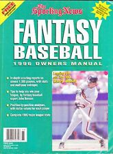 1996 SPORTING NEWS FANTASY BASEBALL OWNER'S MANUAL WITH BARRY BONDS ON COVER