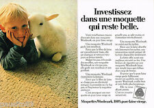 PUBLICITE ADVERTISING 065  1982  WOOLMARK  moquette en laine ( 2pages)