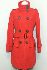 Armor Jeans Stylish Red WOMEN'S Double Breasted Trench Pea COAT JACKET SZ XXS