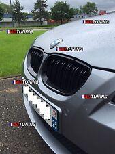 2 GRILLE DE CALANDRE NOIR DOUBLE LAME NOIR BRILLANT GLOSSY BMW SERIE 5 E60 E61