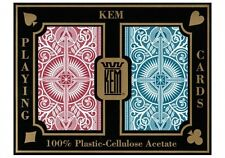 NEW KEM Arrow Red and Blue Poker Size Standard Index Playing Cards NEW