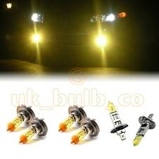 YELLOW XENON HEADLIGHT + FOG BULBS FOR Peugeot 306 MODELS H7H7H1