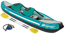 SEVYLOR MADISON KIT 2 PERSON INFLATABLE KAYAK & PADDLES & PUMP boat blow up