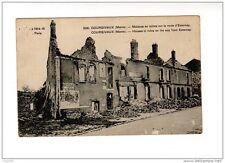MILITARIA - LA GUERRE DE 1914 COURGIVAUX Maisons en ruine sur route d'ESTERNAY