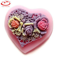 DIY Silicone Heart Rose Flower Wedding Cake Decorating Mold Baking Mould Tool