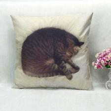 Square Fashion Cute Cat Pillow Case Sofa Waist Throw Cushion Cover Home Decor