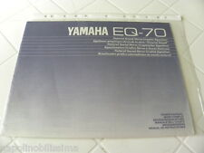 Yamaha EQ-70 Owner's Manual  Operating Instructions  New