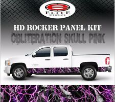 "Oblit Skull Pink Camo Rocker Panel Graphic Decal Wrap Truck SUV - 12"" x 24FT"