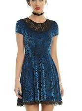 Miss Peregrine's Home For Peculiar Children Blue Velvet Dress Size Large NWT!