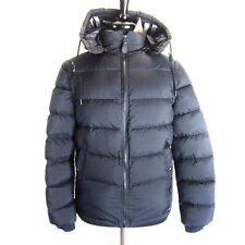 J-804319 New Burberry Brit Navy Zip Puffer Coat Hood Jacket Size Small