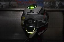 Large Shark Skwal LED Lights Street Full Face Motorcycle Helmet Switch Rider Red