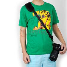 Black Quick Rapid Single Shoulder Sling Belt Strap For Digital SLR DSLR Camera