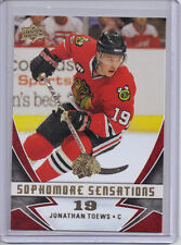 2008-09 UPPER DECK SERIES 1 UD SOPHOMORE SENSATIONS #SS2 JONATHAN TOEWS CHICAGO