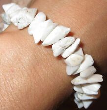 BEAUTIFUL RARE SCOLECITE NATURAL CRYSTAL SYNERGY 12 BRACELET INDIA