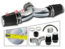 BCP BLACK 99-04 JEEP Grand Cherokee 4.7L V8 Dual Twin Air Intake System + Filter