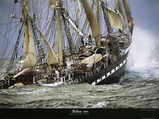 Le Siecle du Belem by Philip Plisson Ship Sinking Print Poster 31.5x23.5
