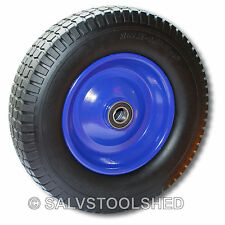 "16"" Puncture Proof Rubber Wheel Barrow Cart Tyre Solid Flat Free Tire 25mm Bore"