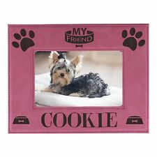 Personalized Pet Dog Picture Frame 4x6 - Custom Engraved Animal Photo Gift