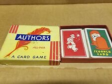 1930's Vintage Authors All Fair Card Game & Popeye Card Game
