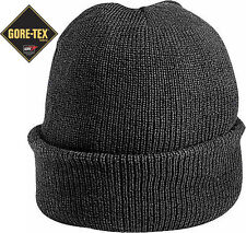 Black Military Wool GORE-TEX Knitted Winter Hat Watch Cap