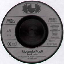 """RICCARDO FOGLI ~ PER LUCIA / ALTRI TEMPI ~ 1983 GERMAN 7"""" SINGLE ~ CGD 105 351"""