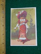 1870s-80s D Valentine Jeweler Patek Philippe & Co Victorian Trade Card F33
