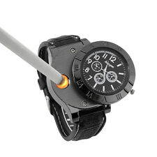 Men's Cool Quartz Wrist Watch Cigarette Electronic Lighter USB Rechargeable KG