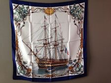 Authentic Vintage Hermes Scarf Ledoux L'Ocean Nautical Ship Scarf 1959