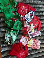 babys bundle joblot wholesale christmas xmas bibs tights shoes new