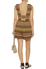 NEW MISSONI METALLIC KNIT OPEN BACK CUTOUT JUMPSUIT ROMPER PLAYSUIT 42 6 SO SEXY