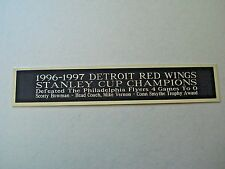 Detroit Red Wings 1996-97 Stanley Cup Nameplate For A Hockey Jersey Case 1.5X8