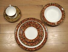 50 Pieces Wedgewood China Persia 9 Place Settings 5 Rimmed Soup Bowls